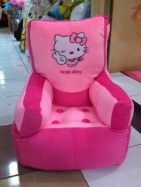 Sofa Kotak Hello Kitty 50x60 cm List Pink Fanta
